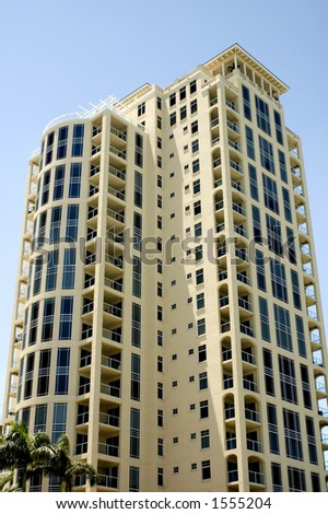 High Rise Condo in St. Petersburg, Florida. - stock photo