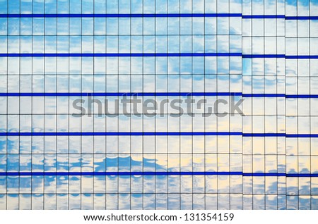 high rise glass building - stock photo
