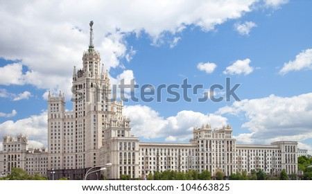 High-rise in Kotelnicheskaya embankment, Moscow, Russia