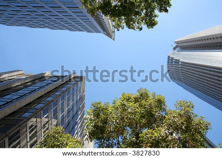 High-rise Office Buildings - stock photo