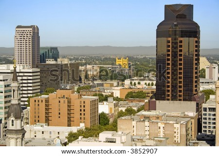 High-rise Office Buildings in Downtown Sacramento - stock photo