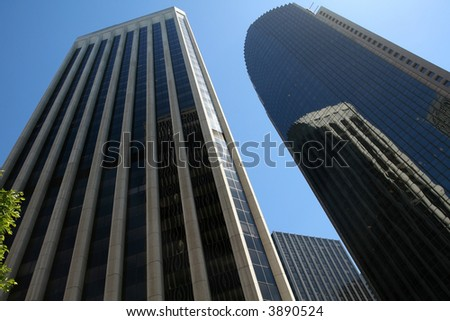 High-rise Office Buildings in the Financial District - stock photo