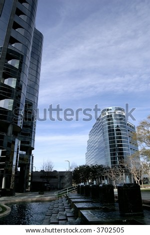 High rise office buildings, , La Jolla San Diego - stock photo