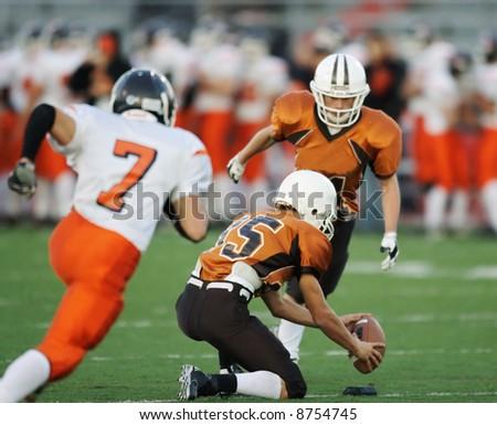 High school field goal - stock photo
