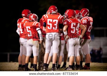 High School Football Team - stock photo