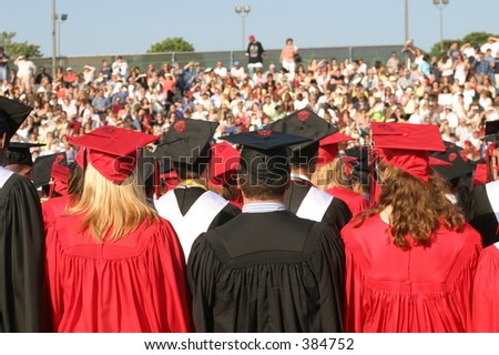 High school graduation. - stock photo