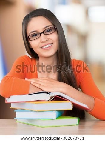 High School Student, University, Student. - stock photo