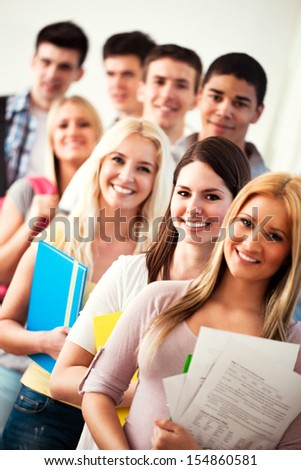 High School Students - stock photo