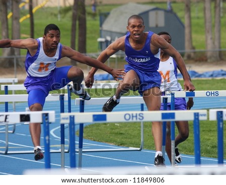 High School Track - stock photo