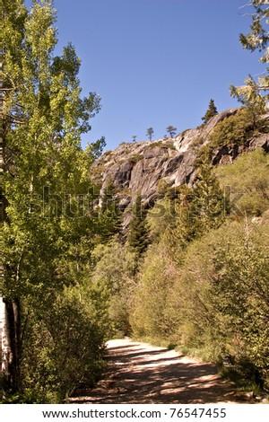 High Sierra Trail at Lake Tahoe in California - stock photo