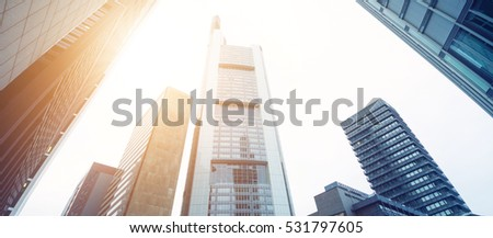 High skyscrapers on a sunny day