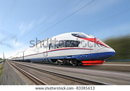 High-speed commuter train. - stock photo