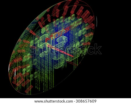 High speed internet connection standard 5G concept - stock photo