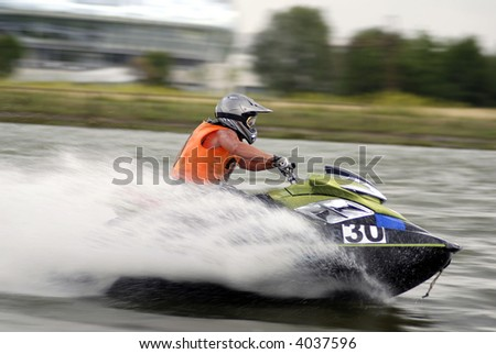 High-speed jetski3 - stock photo