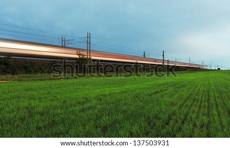 High-speed rail. - stock photo