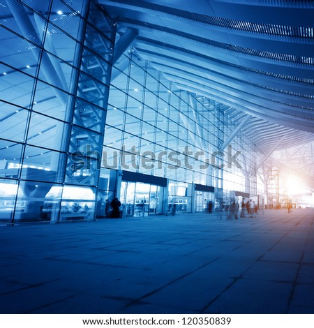 High Speed �¢??�¢??Rail Station in shenzhen,china - stock photo