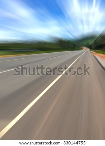 high speed riding on highway.