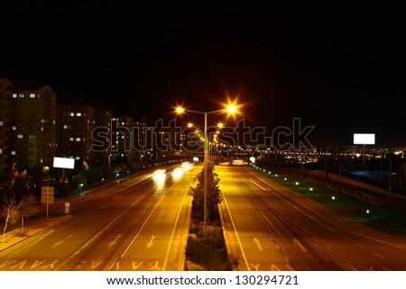 high speed traffic - stock photo