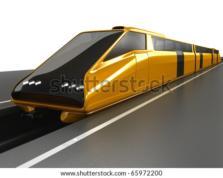 High-speed train at a platform - stock photo