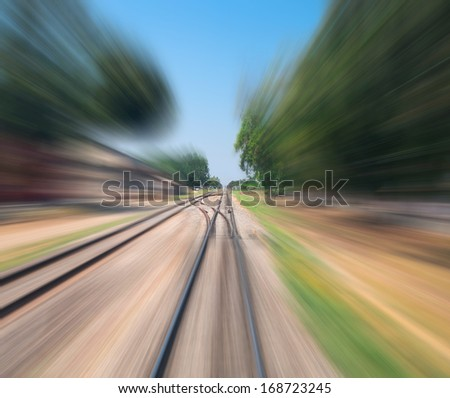 high speed train , inside the train - stock photo