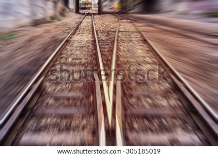 high speed train , inside the train - stock photo