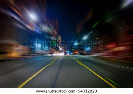 High speed zoom - stock photo