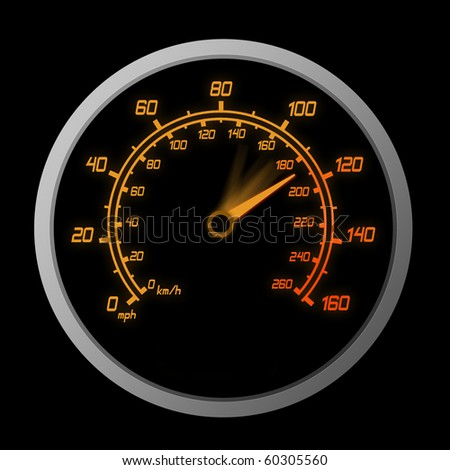 High Speeding The Red Line - stock photo