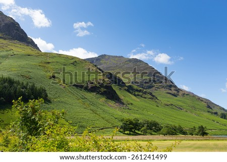 High Style mountain near Buttermere Lake District Cumbria England uk on a beautiful sunny summer day - stock photo