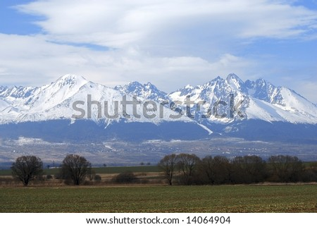 High Tatras in Slovakia. The highest peaks of Karpathian mountains.