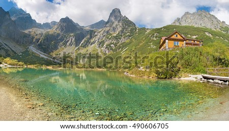 High Tatras - Zelene Pleso lake and valley with the Chalet