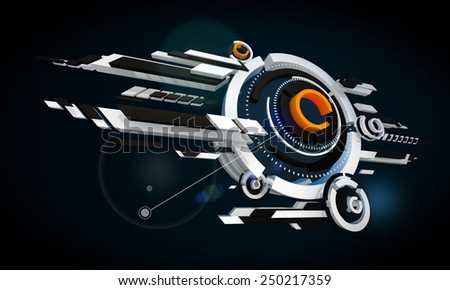 High-tech abstract background - stock photo