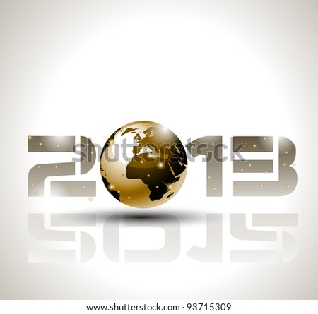 High tech and technology style 2013 happy new year celebration background for your posters, flyers and business presentations. - stock photo