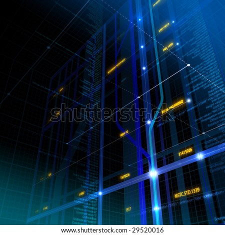 High-tech background with copyspace - stock photo