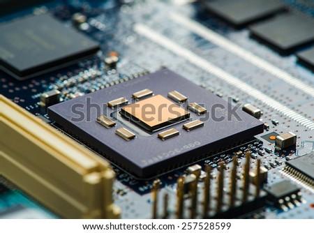 High Tech Circuit Board - stock photo