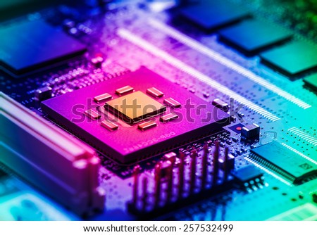 High Tech Circuit Board - stock photo