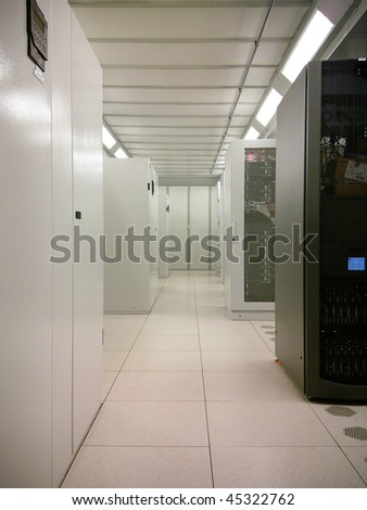 High Tech Data Centre - stock photo