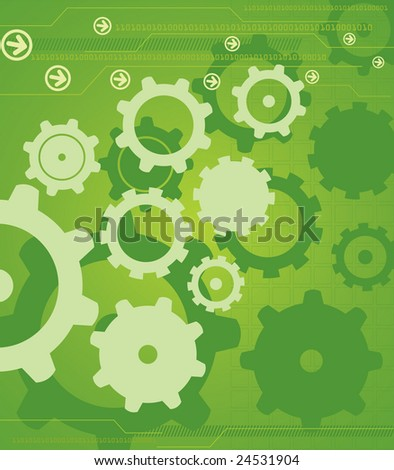 High Tech Industrial Background - stock photo
