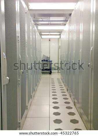 High-tech IT servers - stock photo
