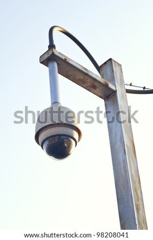 High tech overhead security camera - stock photo