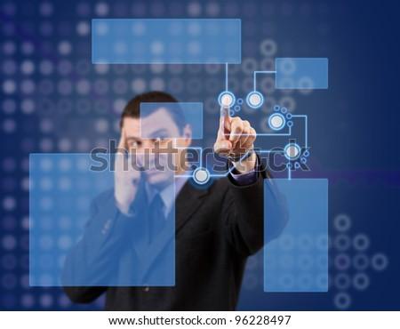 High tech panel - stock photo