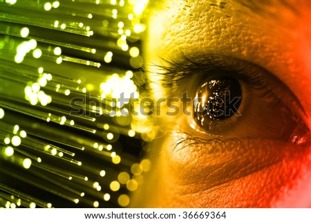 high-tech technology background - stock photo