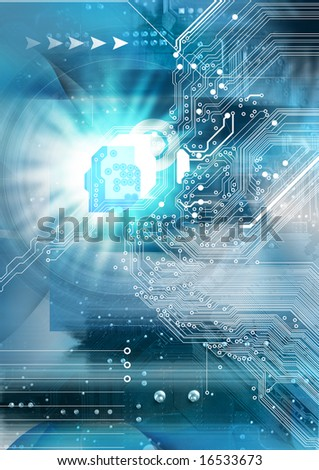 High technology background - stock photo