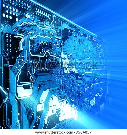 high technology background - stock photo