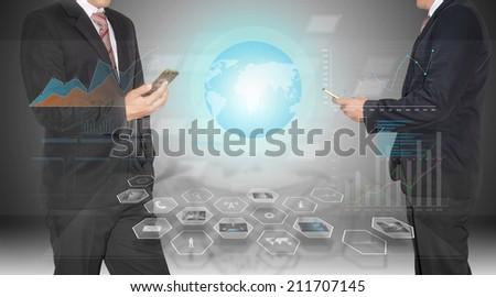 high technology on smart phone - stock photo