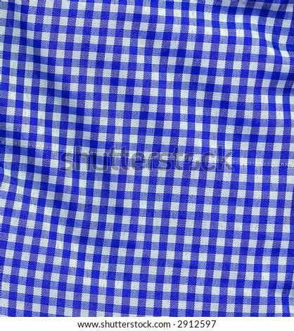 High Texture Blue Gingham Plaid - stock photo