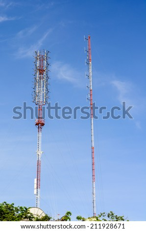 HIGH TOWER FOR COMMUNICATION WITH BLUE SKY