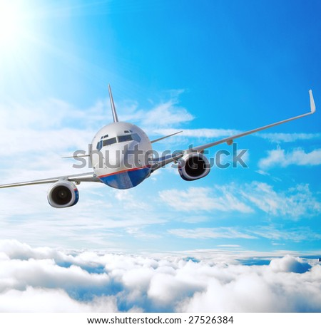 High turbulence happens - stock photo