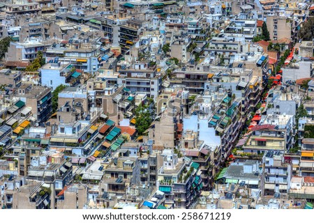 High urban density in Athens, Greece - stock photo