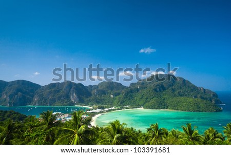 High Viewpoint Heaven Seascape - stock photo