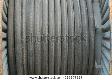 High voltage cable roll - stock photo